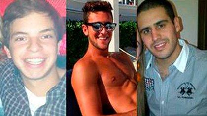 Leandro Del Villar, Luciano Mallemaci y Ezequiel Quintana, los tres jóvenes acusados de abuso sexual
