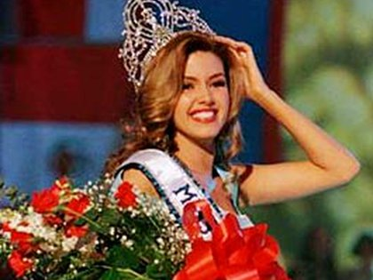 Alicia Machado al ser coronada Miss Universo en 1996 (Foto: archivo)
