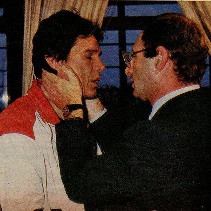 Ernesto Cherquis Bialo con Carlos Monzón