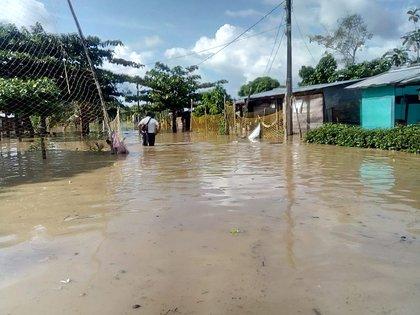 Floods in Carepa, Antioquia.  Photo: Dagran.