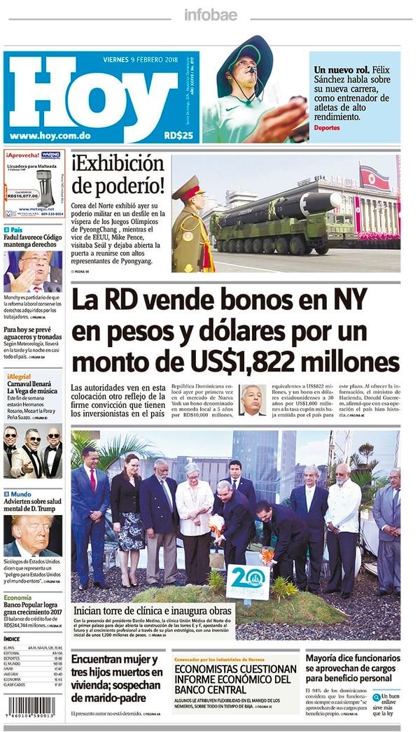 Hoy, Dominicana, 9 de febrero de 2018 - Infobae
