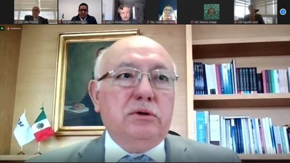 David Colmenares, a nombre de la Auditoría Superior de la Federación presentó este 30 de octubre la Entrega de Informes Individuales de la Fiscalización Superior la Cuenta Pública 2019 en sesión virtual de la Cámara de diputados Foto: Captura de pantalla