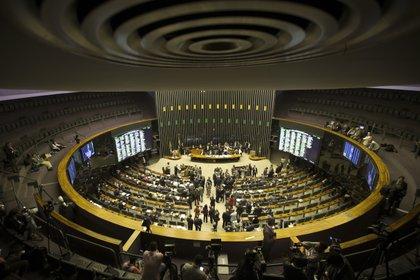Vista general del Plenario de la Cámara de Diputados, en Brasilia