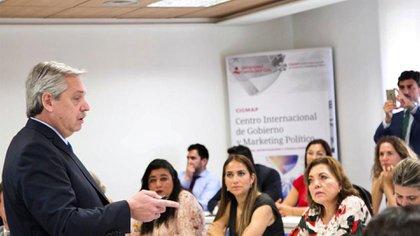 La clase de Alberto Fernández en la Universidad Camilo José Cela
