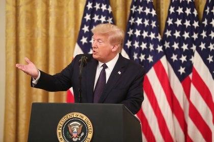 El presidente de los Estados Unidos, Donald Trump. Foto: EFE/EPA/MICHAEL REYNOLDS/Archivo