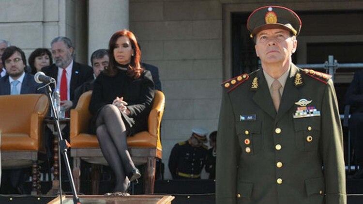 Cristina Kirchner junto a César Milani