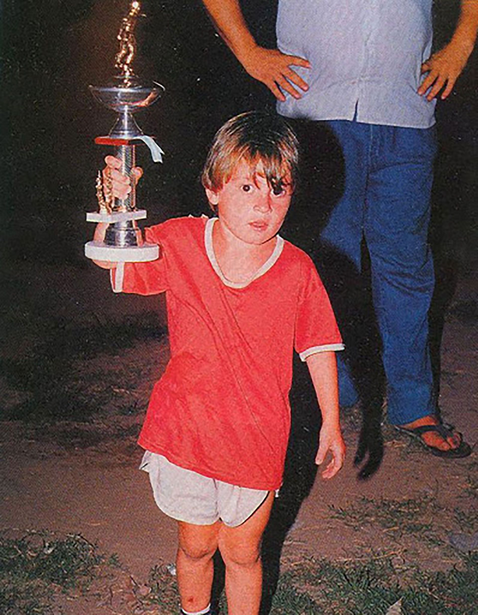 Lionel Messi de niño en Grandoli