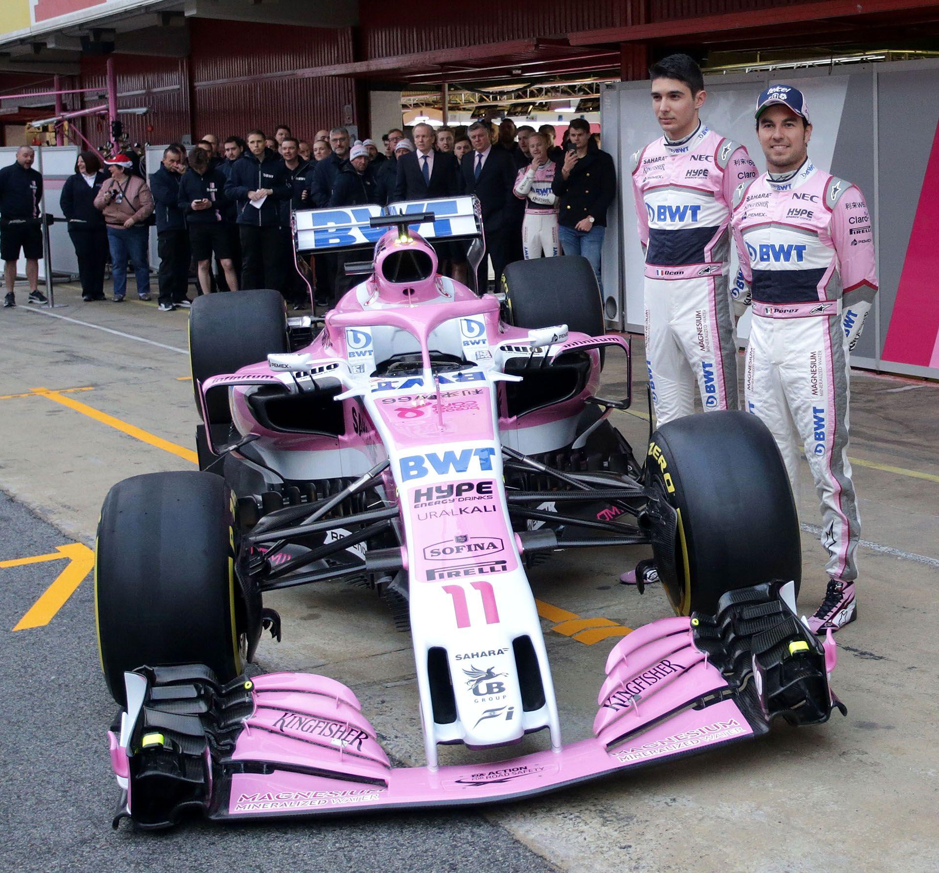 Esteban Ocon Sergio Perez
