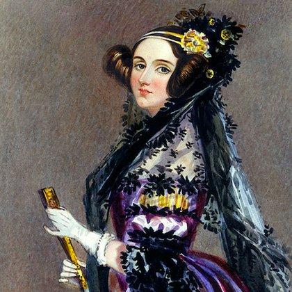 Ada King,condesade Lovelace,programadora.(Acuarela de Alfred Edward Chalon)