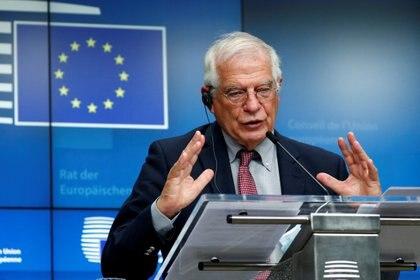 El Alto Representante de Política Exterior de la UE, Josep Borrell, propuso una reunión entre el Grupo de Contacto Internacional y otros actores clave -en alusión al Grupo de Lima- para analizar las elecciones previstas para diciembre en Venezuela (REUTERS/Francois Lenoir/Pool)