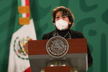 Delfina Gómez señaló la importancia del agua y los servicios sanitarios para el regreso a las aulas (FOTO: MOISÉS PABLO/CUARTOSCURO.COM)