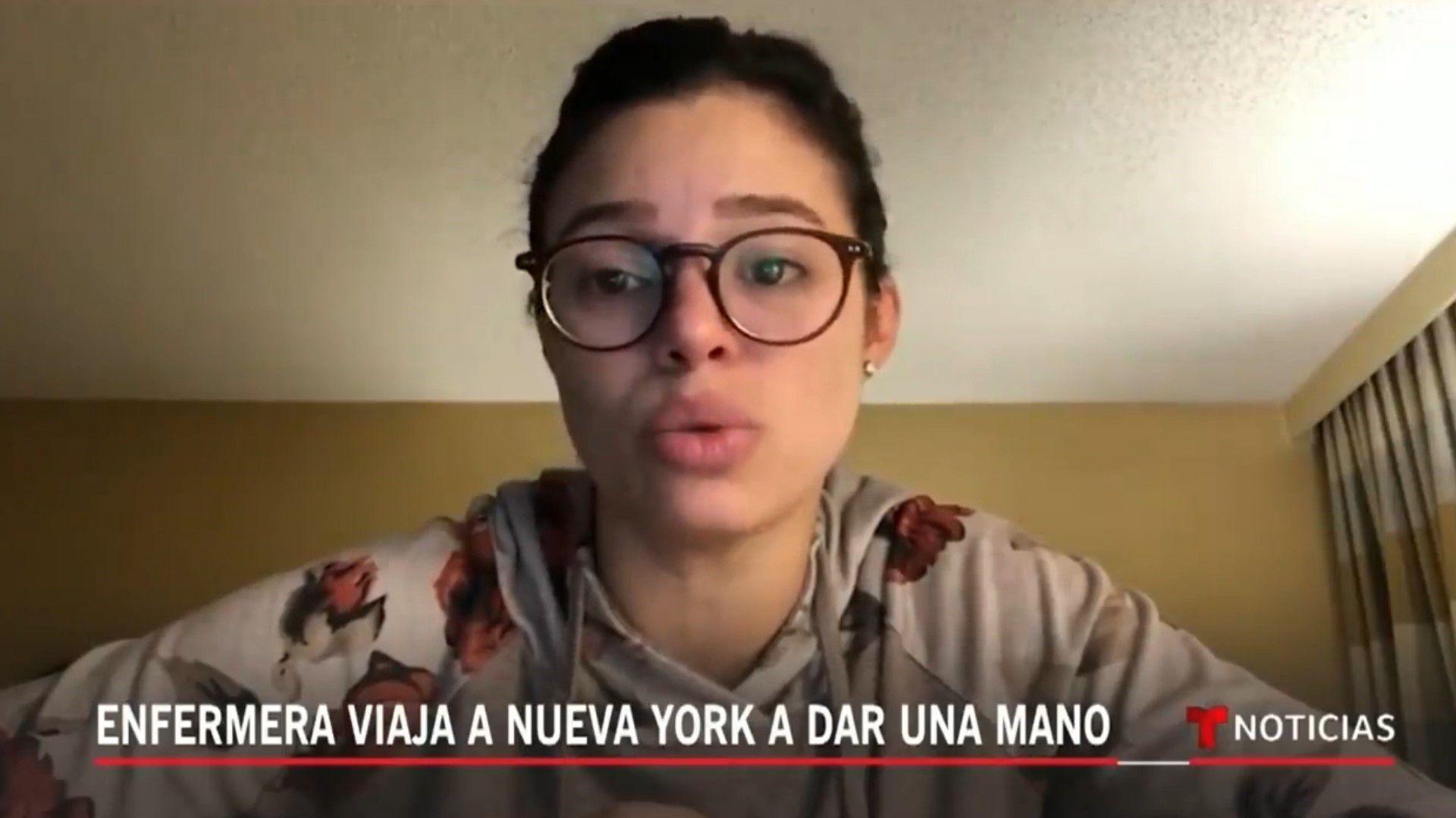 La enfermera se mostró cansada y llorando en algunos videos (Foto: Captura de pantalla)