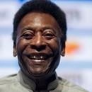 Legendary Brazilian footballer Pele, smiles during the opening event of the 2018 Carioca Football Championship at Cidade das Artes in Rio de Janeiro, Brazil, on January 15, 2018. Pele was named ambassador of the Championship. / AFP PHOTO / MAURO PIMENTEL