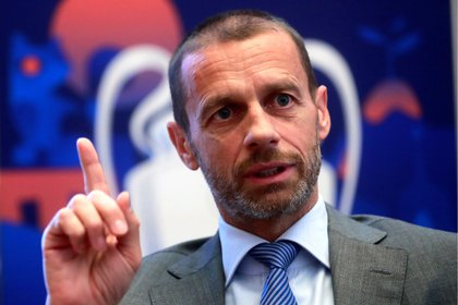 El presidente de UEFA, Aleksander Ceferin (EFE/Ángel Díaz)