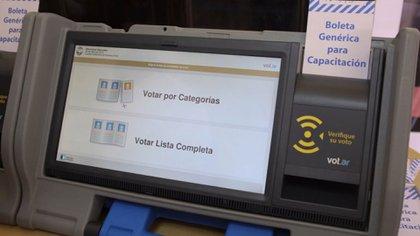 Mecanismo de voto electrónico utilizado en Argentina / (Archivo).