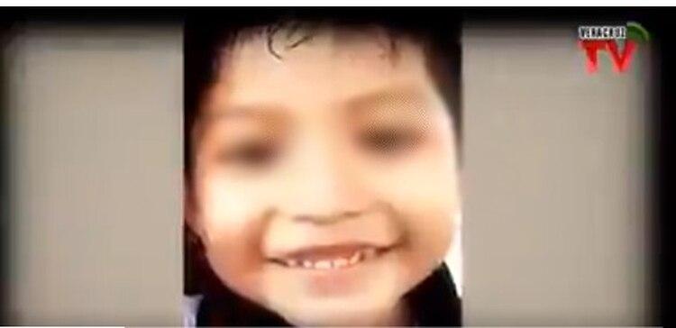 """""""Lazarito"""", la víctima mortal, cursaba el tercer grado de kínder (Foto: Veracruz TV)"""