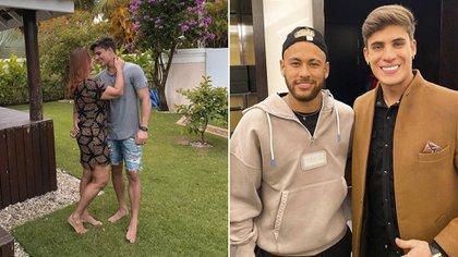 El futbolista felicitó a su madre por su nueva relación