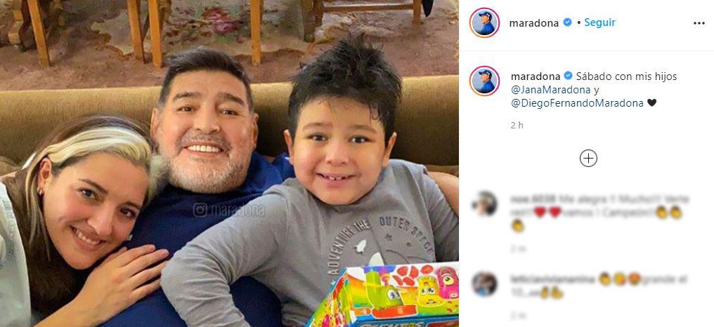 posteo Diego Maradona