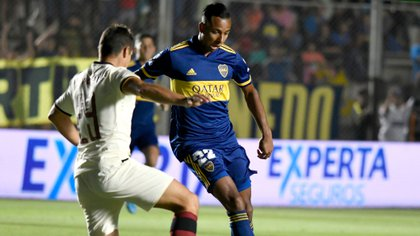 Sebastián Villa jugó de titular en los dos partidos de la pretemporada xeneize (Fotobaires)