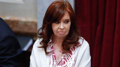 En la imagen, la expresidenta argentina y hoy vicepresidenta Cristina Fernández de Kirchner. EFE/Juan Ignacio Roncoroni/Archivo