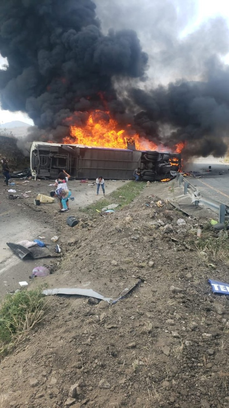 Los pasajeros se dirigían dirección Puebla (Foto: Especial)