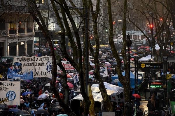 La marcha llenó las calles del centro porteño