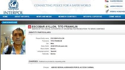 Tito Franklin Escobar Ayllon, el taxista prófugo por violar a una joven en Colegiales, todavía buscado.