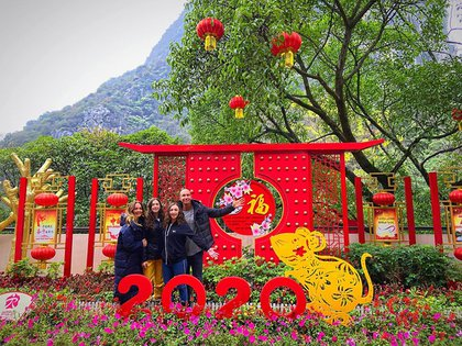 La familia Rubín Legarreta festejando en China la llegada del año de la rata de metal (Foto: Instagram @andrealegarreta)