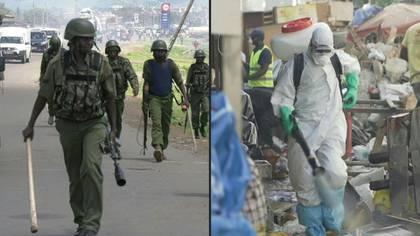 Militares en las calles, caminos bloqueados, gas lacrimógenos para vaciar mercados: los países de Africa se confinan para disminuir la propagación de COVID-19 mientras la cifra global de muertes por la pandemia se acerca a las 25,000.