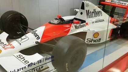 El McLaren MP4/5 B con el que Senna ganó en 1990