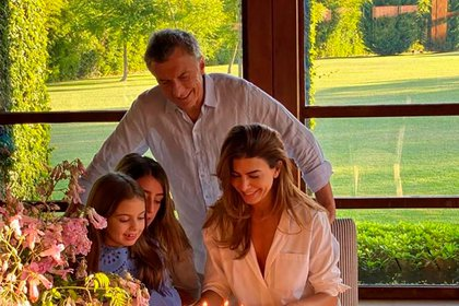 El ex presidente Mauricio Macri junto a su familia