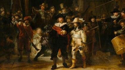 """""""Ronda Nocturna"""", la más célebre de las obras de Rembrandt, 1642"""