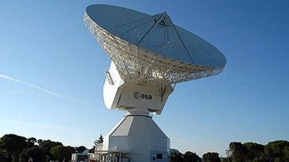La antena DS3 de la ESA está ubicada en Malargüe, Mendoza y sirve para las misiones de espacio profundo (ESA)