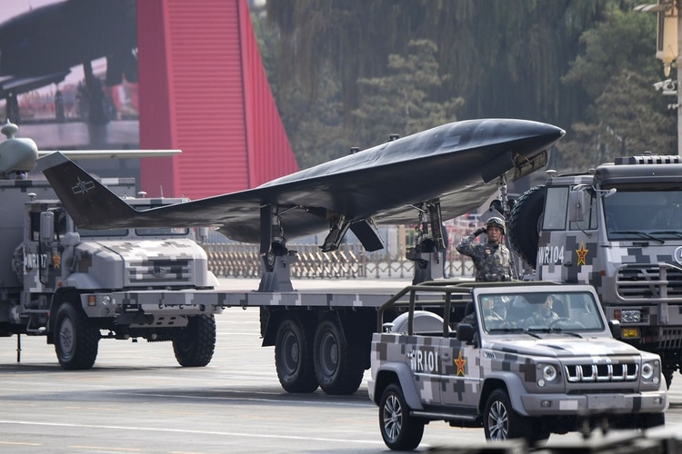 El drone de reconocimiento Wz-8 (GREG BAKER / AFP)