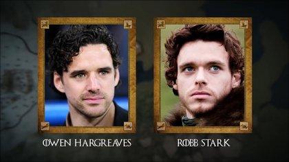Owen Hargreaves (ex futbolista inglés) con Robb Stark