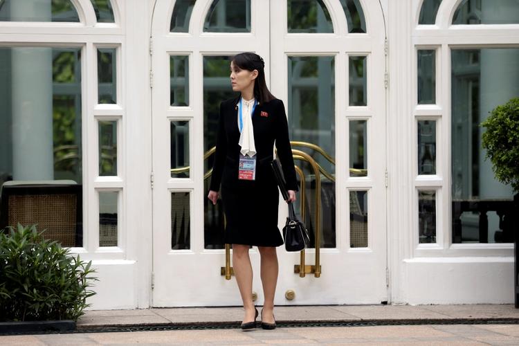 Kim Yo jong, hermana del dictador de Corea del Norte, Kim Jong un, quien se encuentra en grave estado, durante la cumbre en Hanoi entre Donald Trump y el