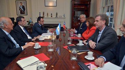 La reunión en el Ministerio de Seguridad