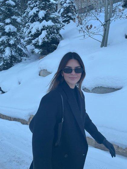 Kendall Jenner en sus vacaciones familiares en la nieve (@kendalljenner)