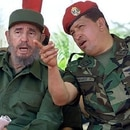 Fidel Castro y Hugo Chávez