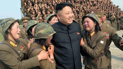 Las niñas son destinadas a complacer al líder supremo y sus allegados (AFP)