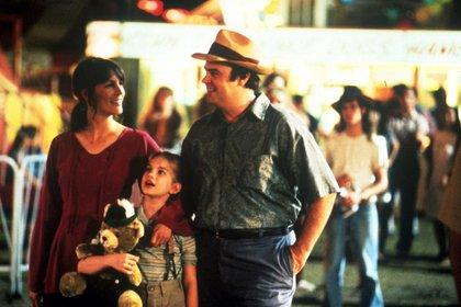 Los niños estaban acompañados por Dan Aykroyd, como padre de Vada, y Jamie Lee Curtis (Grosby)
