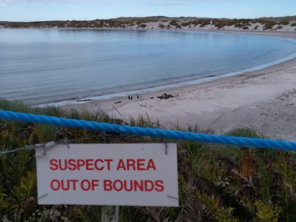 Una de las áreas de exclusión, habitada exclusivamente por pingüinos