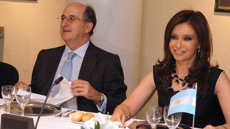 Cristina Fernández de Kirchner junto a Brufau (NA)