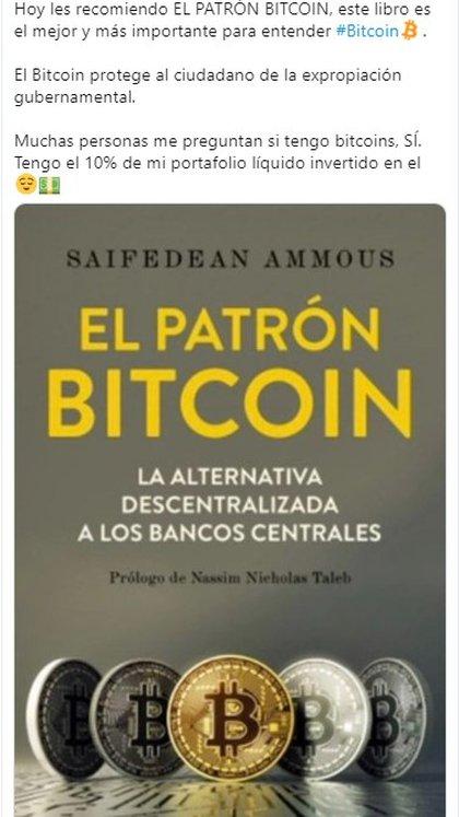 Las ganancias del bitcóin han ayudado a compensar los intereses comerciales de Salinas (Foto: Twitter Ricardo Salinas Pliego)
