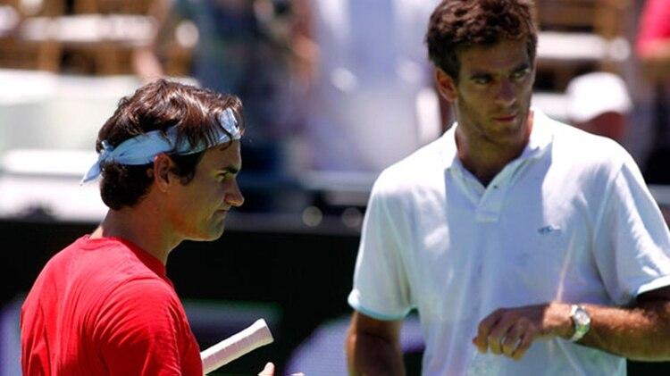 Del Potro y Federer se enfrentarán el 20 de noviembre en el Parque Roca (Foto REUTERS)