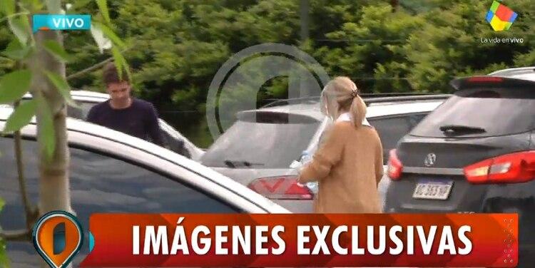 Laurita Fernández acompañó a Nicolás Cabré durante la internación ambulatoria de Rufina (captura de TV)