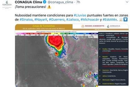Foto: @conagua_clima