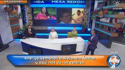 """Durante la transmisión en vivo se suscitó un ligero conflicto entre Anel Noreña y la presentadora Shanik Berman. (Foto: captura de pantalla del programa """"Hoy"""")"""