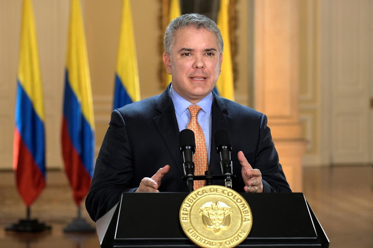 El presidente Iván Duque prolongó hasta el 11 de mayo la cuarentena en Colombia - Infobae