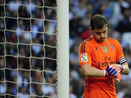 Mandatory Credit: Photo by Belen Diaz/DYDPPA/Shutterstock (4674016am)Iker CasillasReal Madrid v Malaga, La Liga football match at Santiago Bernabeu Stadium, Madrid, Spain - 18 Apr 2015